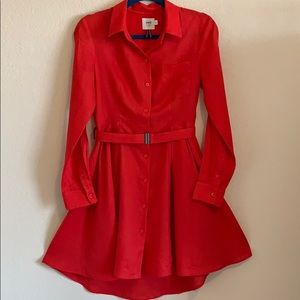ANTHROPOLOGIE HD IN PARIS red linen dress 4